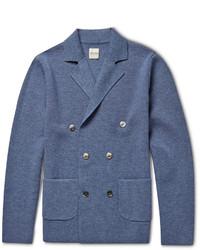 blaues Zweireiher-Sakko