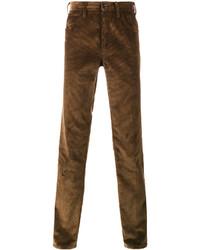 braune Anzughose aus Cord von Prada