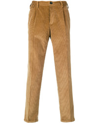 braune Anzughose aus Cord von Pt01
