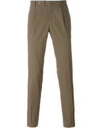 braune Anzughose von Incotex