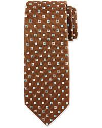 braune bedruckte Krawatte