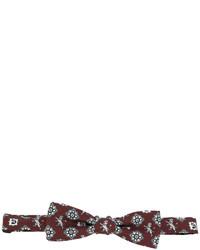 braune bedruckte Seidefliege von Dolce & Gabbana