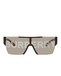 braune bedruckte Sonnenbrille von Burberry