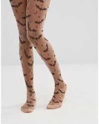 braune bedruckte Strumpfhose von Asos