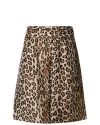 braune Bermuda-Shorts mit Leopardenmuster von Alberto Biani