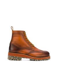 braune Brogue Stiefel aus Leder von DSQUARED2
