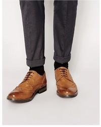 Braune Brogue Stiefel aus Leder von Frank Wright
