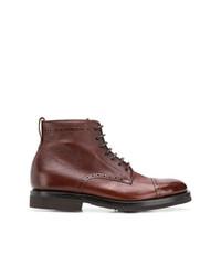 braune Brogue Stiefel aus Leder von Henderson Baracco