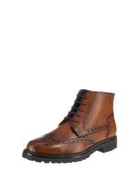 braune Brogue Stiefel aus Leder von Lloyd