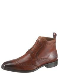 braune Brogue Stiefel aus Leder von Melvin&Hamilton