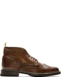 braune Brogue Stiefel aus Leder von Paul Smith