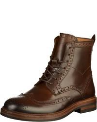 braune Brogue Stiefel aus Leder von Sebago
