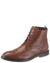 braune Brogue Stiefel aus Leder von Strellson