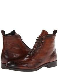 Braune brogue stiefel original 6703321