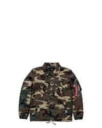 braune Camouflage Shirtjacke von Alpha Industries