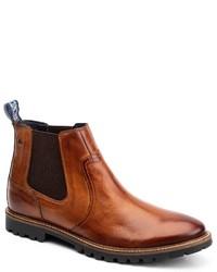 braune Chelsea Boots aus Leder von Base London