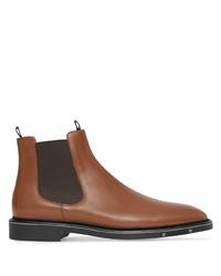 braune Chelsea Boots aus Leder von Burberry