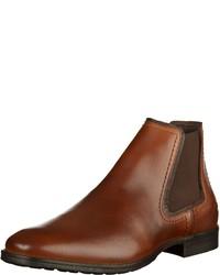 braune Chelsea Boots aus Leder von camel active