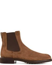 braune Chelsea Boots aus Wildleder