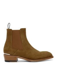 braune Chelsea Boots aus Wildleder von Alexander McQueen