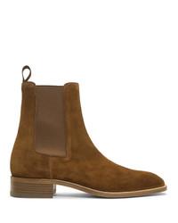 braune Chelsea Boots aus Wildleder von Christian Louboutin