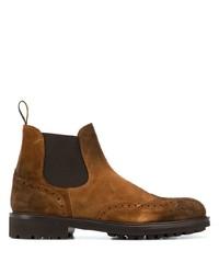 braune Chelsea Boots aus Wildleder von Doucal's