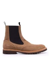 braune Chelsea Boots aus Wildleder von Eleventy