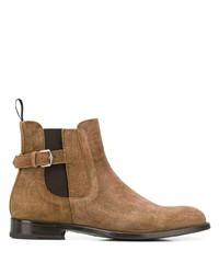 braune Chelsea Boots aus Wildleder von Etro
