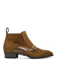 braune Chelsea Boots aus Wildleder von Gucci