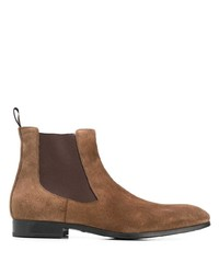 braune Chelsea Boots aus Wildleder von Santoni