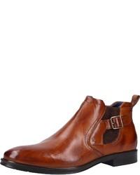 braune Chelsea-Stiefel aus Leder von Bugatti
