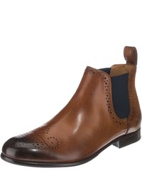braune Chelsea-Stiefel aus Leder von Melvin & Hamilton