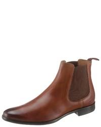 braune Chelsea-Stiefel aus Leder von Melvin&Hamilton