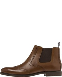 braune Chelsea-Stiefel aus Leder von Tommy Hilfiger