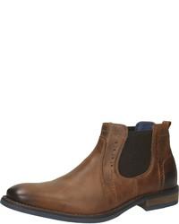 braune Chelsea-Stiefel aus Leder von Venturini