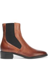 braune Chelsea-Stiefel aus Leder von Vince