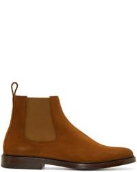 braune Chelsea-Stiefel aus Wildleder von A.P.C.
