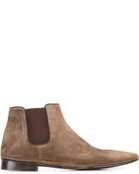 braune Chelsea-Stiefel aus Wildleder von Alberto Fasciani
