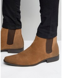 braune Chelsea-Stiefel aus Wildleder von ASOS DESIGN