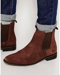 braune Chelsea-Stiefel aus Wildleder von Bellfield