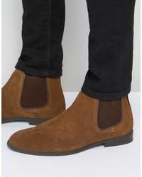 braune Chelsea-Stiefel aus Wildleder von Ben Sherman