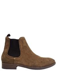 braune Chelsea-Stiefel aus Wildleder von Hudson London