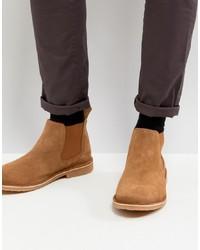 braune Chelsea-Stiefel aus Wildleder von Jack & Jones