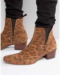Braune Chelsea-Stiefel aus Wildleder von Jeffery West