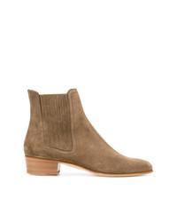 braune Chelsea-Stiefel aus Wildleder von Louis Leeman