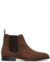Braune Chelsea-Stiefel aus Wildleder von Paul Smith