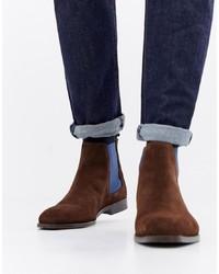 braune Chelsea-Stiefel aus Wildleder von PS Paul Smith
