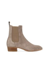 braune Chelsea-Stiefel aus Wildleder von Represent