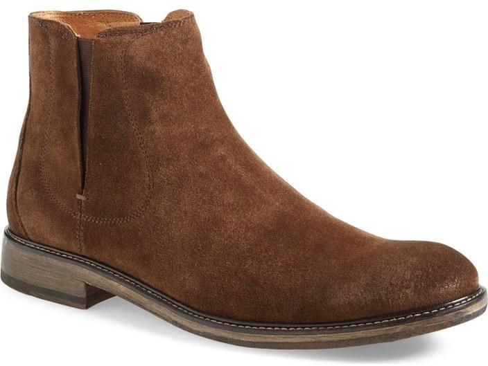 4eee0f07dcd20e ... braune Chelsea-Stiefel aus Wildleder von John Varvatos