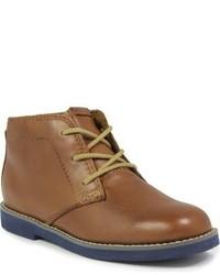 braune Chukka-Stiefel aus Leder